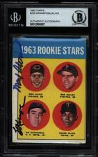 1963 TOPPS ED KRANEPOOL MAX ALVIS ROOKIE CARD DUAL SIGNED AUTOGRAPH #228 BGS BAS