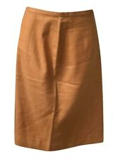 Authentic Vintage 1960s Orange Tangerine High Waist Pencil Skirt Slim Fit Small