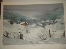 """MICHAEL SLOAN """"EARLY SNOW"""" L/E #216/950, SIGNED, DATED  PENCIL BY THE ARTIST,COA"""