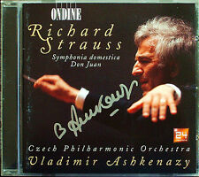 Vladimir ASHKENAZY Signiert STRAUSS Symphonia Domestica Don Juan ONDINE CD