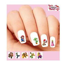 Waterslide Nail Decals Set of 20 - Mario Bros Brothers Assorted