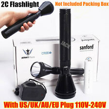 NEW Sanford 1000meter CREE LED TACTICAL RECHARGEABLE POLICE FLASHLIGHT TORCH 2C