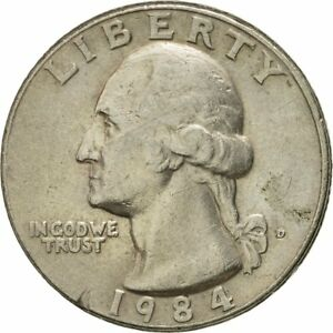 [#432927] Coin, United States, Washington Quarter, Quarter, 1984, U.S. Mint