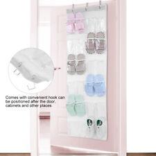 24-Pocket Over Door Hanging Shoe Rack Shelf Organizer Holder Storage Wall Closet