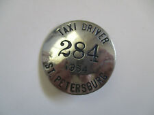 1954 St Petersburg Florida Taxi Driver CDL Chauffeur Employee ID Badge Pin