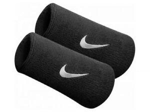 Nike Tennis Badminton Swoosh Double-Wide Wristband Sweatbands Wrist Band White