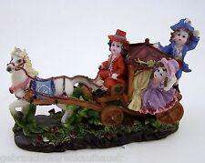 Pferdekutsche mit lustigen Kindern Kunststoff