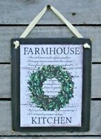 Farmhouse Kitchen Hanging Wall Sign Plaque Primitive Rustic Farmhouse