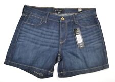 George & Martha Womens Jean Shorts Dark Stone Denim Diane Size 35 NWT NEW L4343
