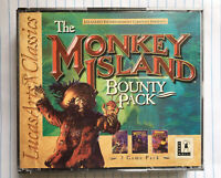 VINTAGE CD-ROM PC GAMES MONKEY ISLAND BOUNTY PACK 3 GAME PACK LUCAS ARTS