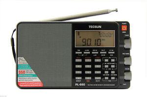 Tecsun PL-880 PLL triple conversión AM/FM/LW/SW SSB Radio <Firmware8820> FedEx