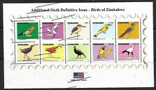 More details for zimbabwe 2007 birds minisheet imperfs misprinted superb mnh ms1225 scarce
