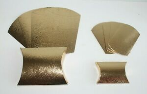 CHRISTMAS Gold Bubble Pillow Gift Boxes & Elastic Ties * Size & Quantity Choices