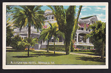c1920 Island Curio Pleasanton Hotel Honolulu Hawaii postcard