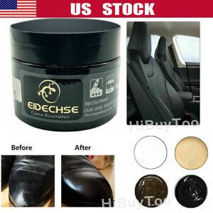 Leather Repair Filler Cream Kit Restore Car Seat Sofa Scratch Scuffs Holes 50ML