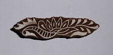 Largo 8.4cm Diseño Floral Indio Manualidades En Madera Impresión Bloque Sello