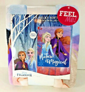 NEW Disney FROZEN 2 II ELSA ANNA Silky Soft THROW BLANKET Nature Magical Gift