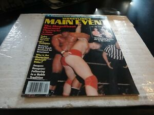 Wrestling's main event magazine april 1983 colour pin up magnificient muraco wwe