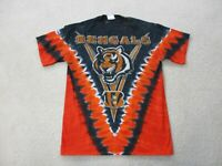 Majestic Cincinnati Bengals Shirt Adult Medium Black Orange Football NFL Mens