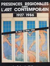 Affiche Expo Présences régionales dans l'art contemporain, 1986 Béthune Nord