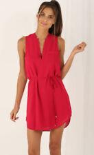 V-Neck Sleeveless Dresses for Women with Pockets