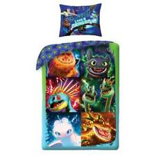 Dragons Wende-Bettwäsche-Set Baumwolle Kinderbettwäsche Bettbezug Drachen Bezug