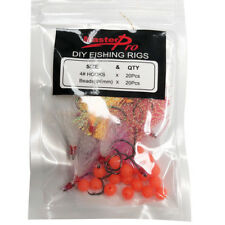 20 X DIY Flasher Fishing Hooks Size 4#, 5 different Colors,Fishing Whiting Bream