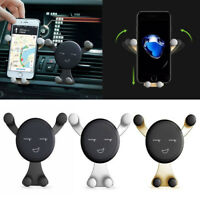 360°Rotate Smile Face Universal Car Air Vent Mount Cradle Stand Phone Holder