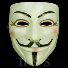 V for Vendetta Mask Guy Fawkes Anonymous Halloween Fancy Dress Costume Cosplay