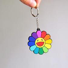 1pcs Rubber Flower Keychain Classic Rainbow Strap Kaikai Kiki TAKASHI MURAKAMI