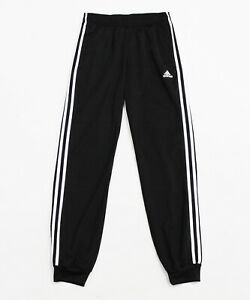 NWT ADIDAS Men's Black White Cuffed Tricot Track Warm-Up Pants Joggers Sz SMALL