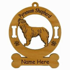 Pyrenean Shepherd Standing Dog Ornament Personalized With Your Dogs Name 3795