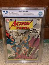 Action Comics #252 CBCS 7.5 1st Supergirl! 1959 Free CGC sized mylar! K10 cm