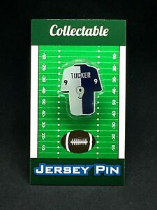 Baltimore Ravens Justin Tucker jersey lapel pin-Classic throwback Collectable