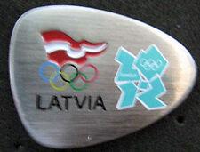 LONDON 2012 Olympic LATVIA NOC Internal team - delegation dated aqua pin