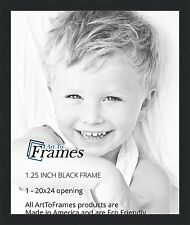 ArtToFrames 20x24 inch Black Picture Frame, WOMFRBW72079-20x24 , NEW!
