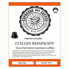 50 Nespresso capsules pods compatible FRESHLY ROASTED gourmet coffee RHAPSODY