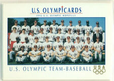 U.S. OLYMPICARDS - 1992 - BASEBALL INSERT TRADING CARD - TEAM CARD - MLB