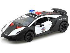 "Kinsmart 1:38 scale Lamborghini Sesto Elemento POLICE CAR diecast model 5"" new"