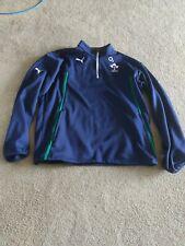 Puma Ireland Rugby 1/4 Zip Top Blue Mens XL