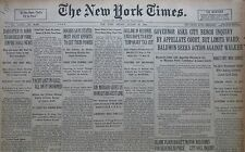 8-1930 August 22 BALDWIN SEEKS ACTION AGAINST WALKER. AQUEDUCT BLAST 3 DEAD