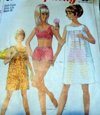 LOVELY VTG 1960s DRESS & BATHING SUIT Sewing Pattern BUST 31