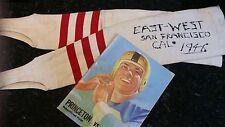 Rare 1946 Cornell All-American Joe DiStasio East-West Shrine Game Worn Leggings