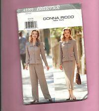 BUTTERICK 4189 pattern Sz 4 8 10 pant skirt jacket suit Donna Ricco UNCUT FF