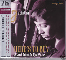 """Jacintha - Here's To Ben"" Audiophile AQCD (Analog Quality CD) Brand New Sealed"