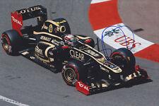 Romain Grosjean main signé F1 2012 lotus-renault photo 12x8 2.