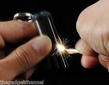 ROUND PERMANENT MATCH BOX LIGHTER UNUSUAL MENS WOMENS GADGET TOY BIRTHDAY GIFT