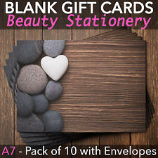 Blank Gift Voucher Card Massage Beauty Spa Holistic Salon - x10 +FREE Envelopes