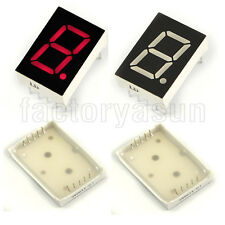 "10PCS Red 7 Segment 1"" LED Single Digit Digital Display Common Anode"