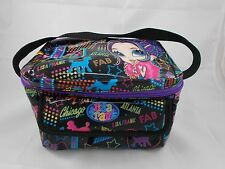 "Lisa Frank Insulated Lunch Box 9"" Wide Girl Chicago Atlanta"